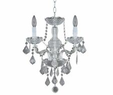 Hampton Bay 3-Light Chrome Maria Theresa Mini Chandelier