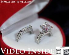 2.38CT Princess Cut Engagement & Wedding Engagement Rings F.925 St Silver FAB16*