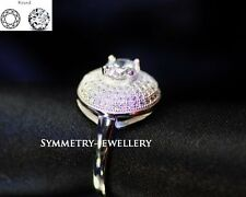 1.8 CT Brilliant Cut Engagement & Wedding Engagement Rings 22KT S.Silver FAB16*
