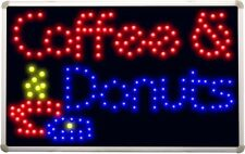 led135 Coffee & Donuts LED Neon Light Sign