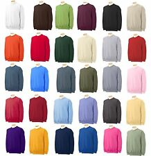 Gildan Heavy Blend Crew Neck Sweatshirt 18000 Size S-5XL 30 colors workout gym