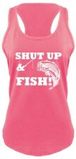 Shut Up & Fish Ladies Tank Top Funny Country Song Tank Redneck Fishing Gift Z6