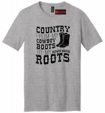 Country Cowboy Boots Roots Mens V-Neck T Shirt Music Country Song Concert Tee