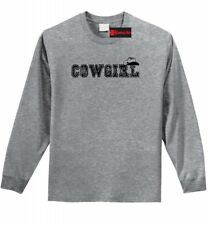 Cowgirl Long Sleeve T Shirt Cute Country Western Southern Unisex Tee Shirt Z1