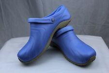 Cherokee Anywear Zone Ciel Light Blue Clogs w/Backstrap Nurses/Chef/Doctor Shoes