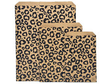 Lot of 100 Leopard Print Merchandise Bags Gift Bags Store Bags Paper Bags