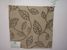Duralee fabric remnant for crafts floral brocade Open Leaves Crewel Brocade