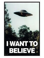 Gloss Black Framed The X-files I Want To Believe Maxi Poster 61x91.5cm