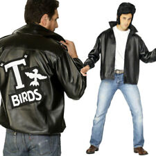 T Bird Grease Jacket Official Licenced 50s Leather Look Fancy Dress Costume