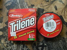 Trilene XL Smooth Casting Fishing Line 4lb.-12lb 330 yds Clear/Green Select: LB