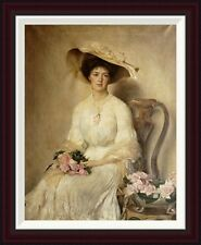 Portrait of a Lady by John Henry Frederick Bacon Framed Painting Print