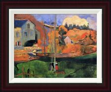 Global Gallery Britany Landscape by Paul Gauguin Framed Painting Print