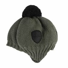 Emporio Armani EA7 Unisex Olive Green 100% Wool Hat Size S M