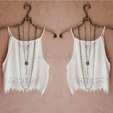 Summer Womens Sexy Lace Tops Short Sleeve Blouse Casual Tank Tops Tee T-Shirt