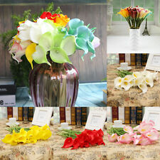New Artifical PU Calla Lily Flower Wedding Bouquet Party Plant Craft Length 35cm