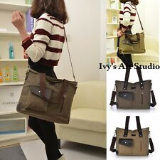 Vintage Canvas Womens Shoulder Bag Messager Handbag School Bags Satchel