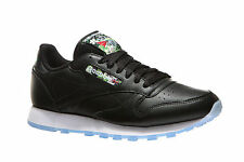Reebok Mens CL Leather SF Soft Leather Black White Running Shoes DS V67859