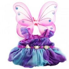 Fits Build a Bear Plush - Purple Fairy Butterfly Costume & Wings Teddy Clothes
