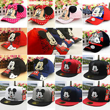 Boys Girls Child Disney Mickey Minnie Mouse Baseball Hat Kids Casual Peaked Cap