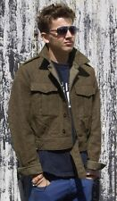 Vintage Dutch Army Wool Ike jacket coat Eisenhower cropped field military khaki