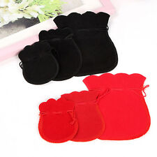 5 Pcs Velvet Bags Jewelry Wedding Party Gift Drawstring Pouches 3 Sizes FT