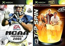Ncaa Football 2005 / Top SPin Tennis Microsoft Xbox Game Complete
