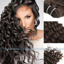 """100g #4 Remy Brazilian Deep Wave Curly Wavy Human Hair Extensions Weft 14""""-24"""""""