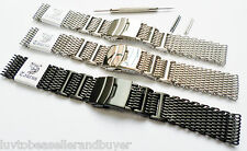 TAURUS® SHARK MESH H-LINK STRAP BAND 22mm FOR VOSTOK AMPHIBIAN DIVERS WATCHES