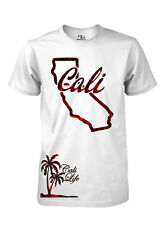 California Tee Cali Life State Map Palm Tree Red Line T Shirt Men's T-Shirt