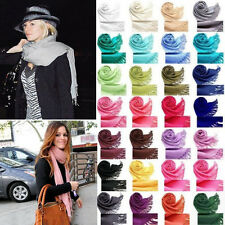 New Fashion Unisex Pashmina Cashmere Silk Solid Shawl Wrap Long Range Scarves