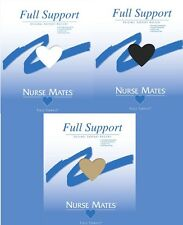 NURSEMATE FULL SUPPORT STOCKING PANTY HOSE HOSIERY A B C D E EE BLACK WHITE NUDE