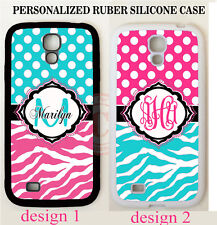 PERSONALIZE TEAL PINK ZEBRA POLKA DOT MONOGRAM Case For Samsung Galaxy S7 NOTE 5