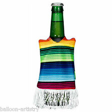 6 Wild West Mexican Fiesta Fun Party Fabric Serape Drink Cosy Bottle Covers