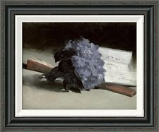 Global Gallery 'Bunch of Violets' by Edouard Manet Framed Painting Print