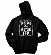 Tonight Is Bottoms Up Crewneck Hooded Sweatshirt Country Music Beer Party Hoodie