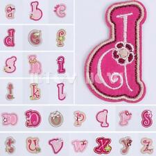 Flower Letters Numbers Embroidered Patch Iron Sewing On Cloth DIY Decor Applique