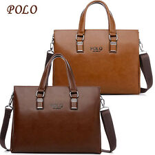 Cowhide POLO Men Handbag Laptop Briefcase Messenger Shoulder bag Tote Purse
