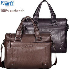 Oil wax cowhide men's briefcase shoulder bussiness Laptop travel messenger bags