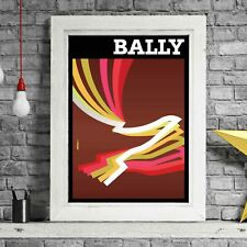 BALLY BROWN - Villemot Vintage Poster Print Sizes A5 to A0 **FREE DELIVERY**