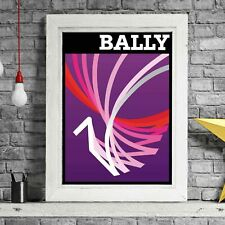 BALLY PURPLE - Villemot Vintage Poster Print Sizes A5 to A0 **FREE DELIVERY**