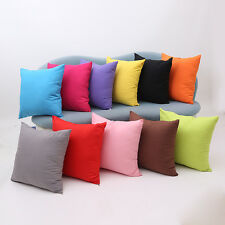 Multicolor Solid Pillow Case Polyester Home Car Decor Cushion Cover Square 18""