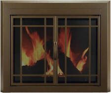 Fireplace Glass Doors Pleasant Hearth Enfield Burnished Bronze Finish