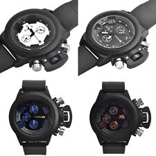 Mens Luxury Chronograph Watches Date Casual Sport Waterproof Wrist Watch Buckle