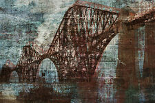 PTM Images Vintage Bridge Graphic Art on Wrapped Canvas