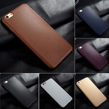 Ultrathin TPU Leather Grain Soft Phone Case Cover Skin For iPhone 5 6 6s Plus US