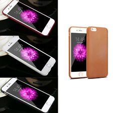 Skidproof Thin TPU Leather Grain Soft Case Cover Skin For iPhone 5 6 6s Plus US