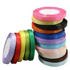 "5x/10PCs 3/8"" 25 Yards Satin Ribbon Roll Wedding Party Craft DIY Decoration"