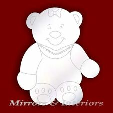 Acrylic Etched MUMMY BEAR Mirror GIFT *PERSONALIS4FREE*