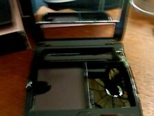 Mary Kay Black COMPACT 017362 PURSE SIZE  4 INCH,10.16 CM NIB W HOLD LIPGLOSS OR