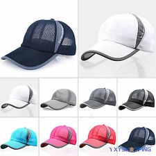 Men's Summer Golf Baseball Mesh Cap Sport Curved Visor Hat Adjustable Unisex Cap